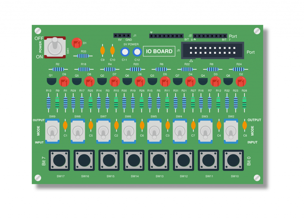IO board LED Blink AVR ATMEGA32
