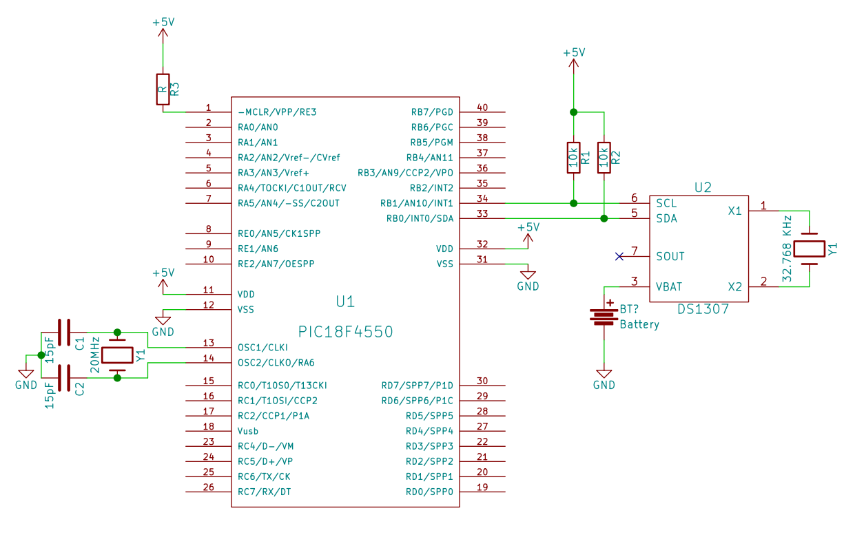 RTC DS 1307 interfacing with PIC microcontroller