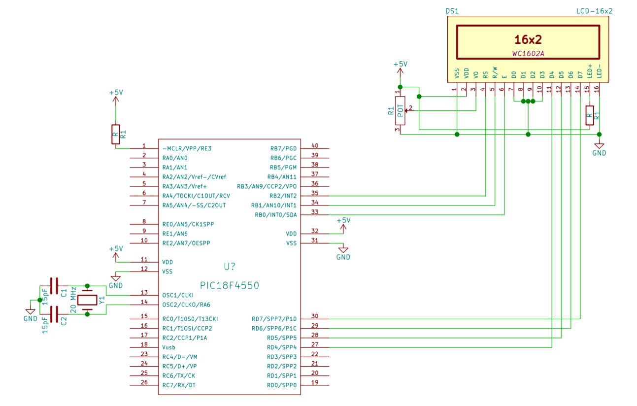 4 bit LCD interfacing with PIC Microcontroller