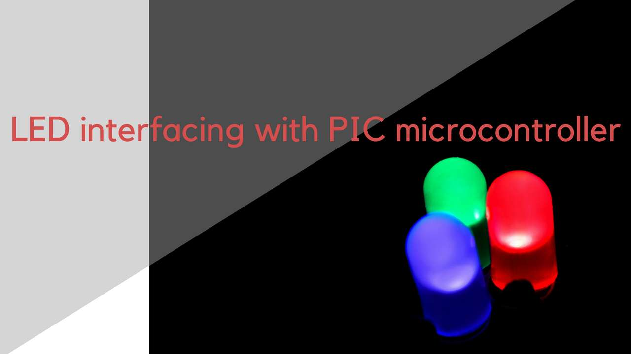 Led Interfacing With Pic Microcontroller Light Emitting Diode Circuit Of The Temperature Control