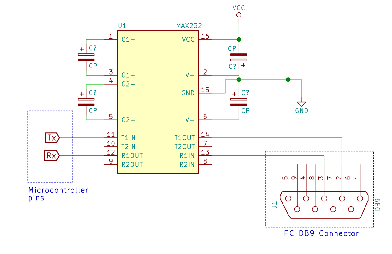 Uart Interfacing With Pic Microcontroller Serial Cable Pinout In Addition 9 Pin To 25 Rs232 Diagram
