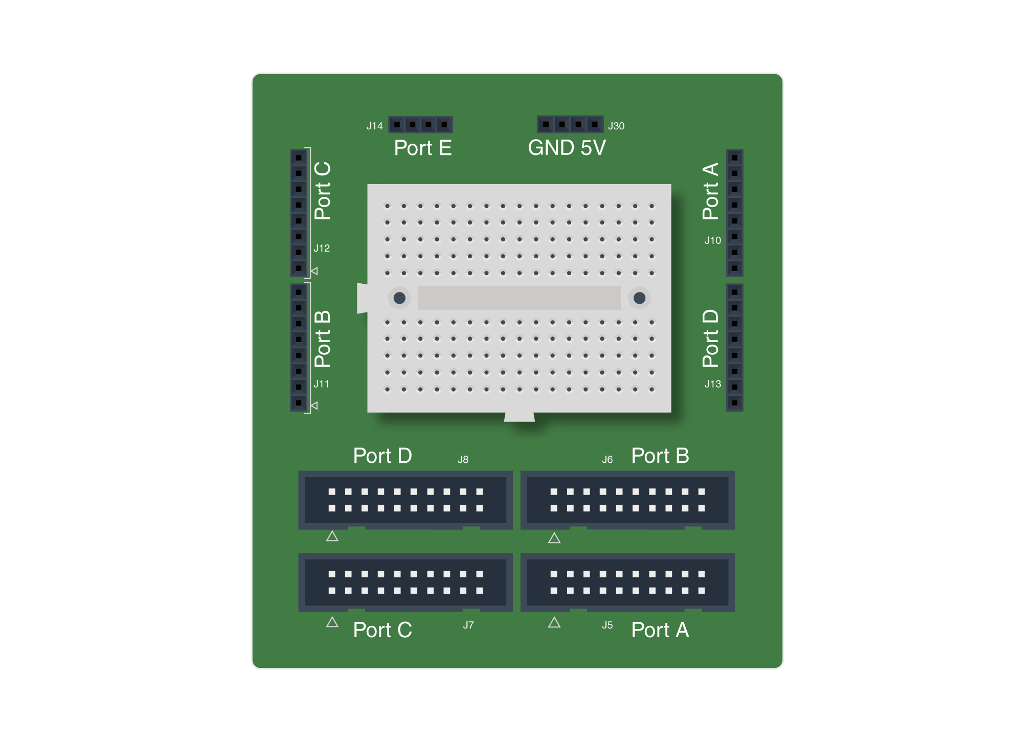Openlab Breadboard Hookup Guide Breadboards Are Used To Prototype Electronic Circuits Without Having
