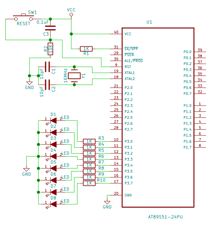 Groovy Led Interfacing With 8051 Microcontroller Example Program And Circuit Wiring 101 Cranwise Assnl