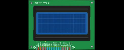 128x64 GLCD display pins