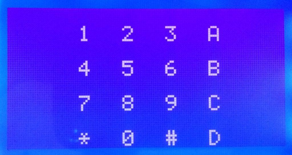 Graphical Display of Keypad on GLCD