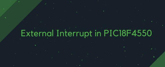 External Interrupt in PIC18F4550