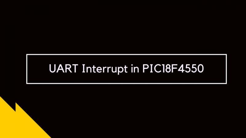 UART Interrupt in PIC18F4550
