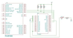 circuit_Interfacing of PCA9685 with PIC18F4550