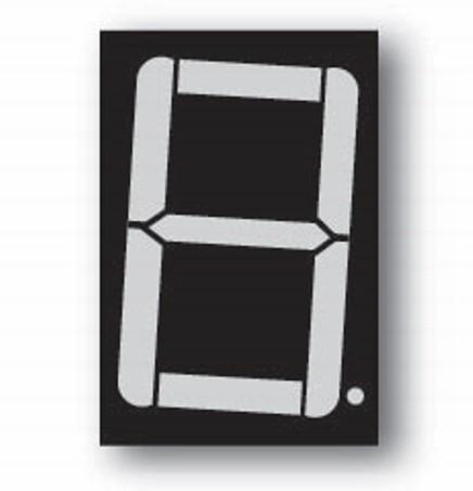 7-segment display black