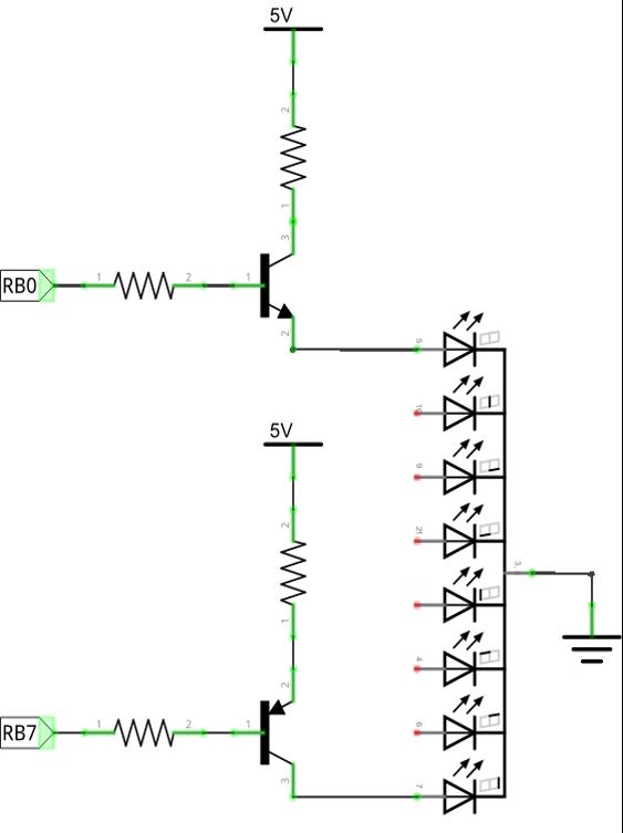 7 semgent - transistor driver